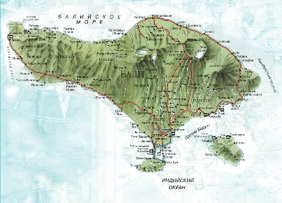 Карта Бали