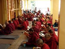Служба в  Храме Калачакры, Маклеод Гандж