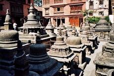 У Храма  Свямбхунатх, Катманду
